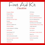 First Aid Kit Check Lists