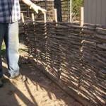 DIY Pine Wicket Fencing