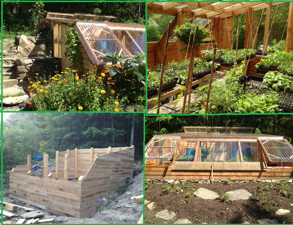 Earth sheltered greenhouse design Earth shelters