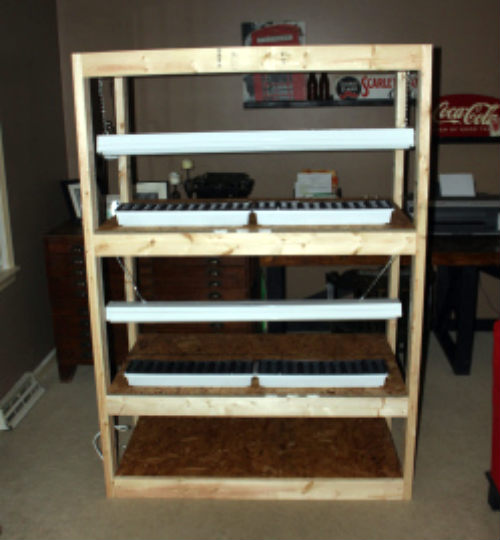 Diy Indoor Seed Starting Rack The Prepared Page