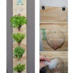 An Upscale Herb Garden from Recycled Materials