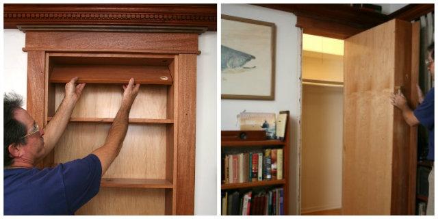 Diy Hidden Pivot Bookcase The Prepared Page