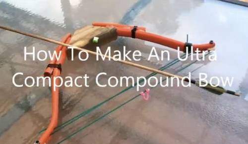 DIY Ultra Compact PVC Compound Bow