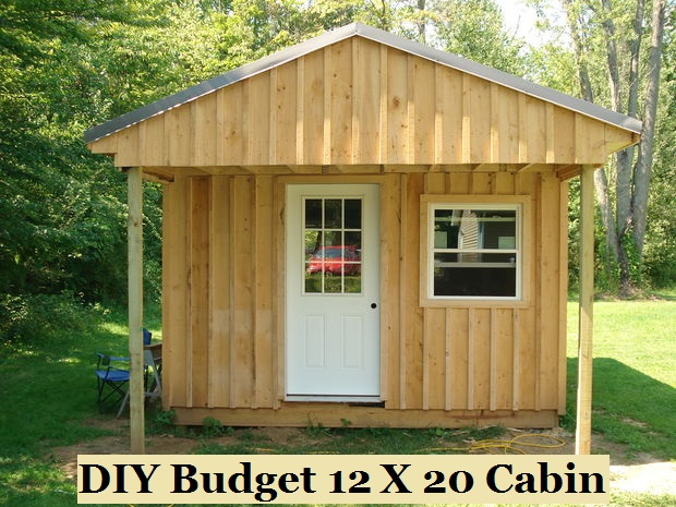 diy budget 12 x 20 cabin the prepared page. Black Bedroom Furniture Sets. Home Design Ideas