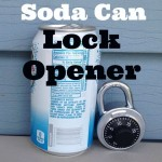 Open Locks with a Soda Can