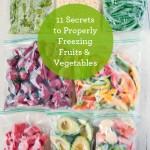Secrets To Properly Freezing Produce