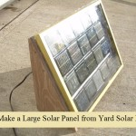 DIY a Large Solar Panel from Yard Solar Lights
