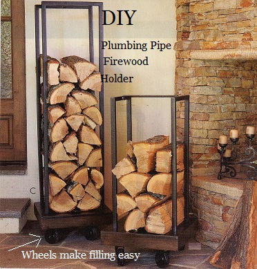 DIY Plumbing Pipe Firewood Holder The Prepared Page