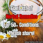 Giant List Of Herbal Remedies