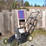 Solar Charged Lawnmower