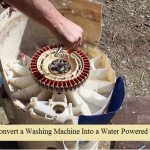 Converting a Washing Machine Into a Water Powered Generator