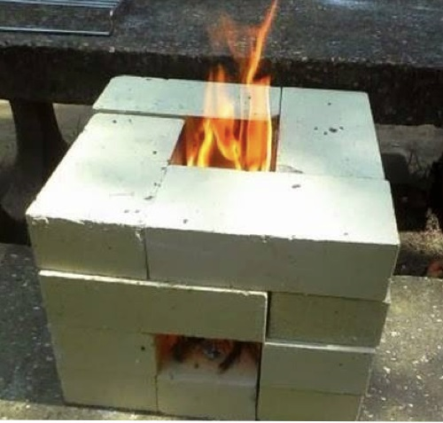 16 brick rocket stove the prepared page for How to make a rocket stove with bricks