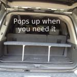 DIY Pop-up Trunk Shelf