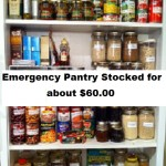 Emergency Pantry Stocked for About $60.00