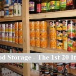 Food Storage – The 1st 20 Items