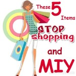 Stop Shopping and MIY Items