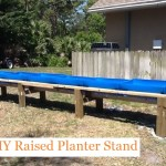 DIY Raised Planter Stand