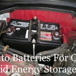 Auto Batteries For Off Grid Energy Storage