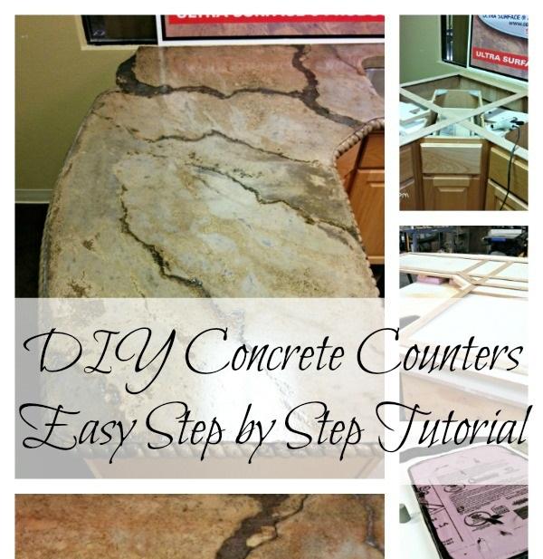 DIY Concrete Counters