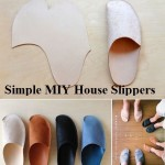 Simple MIY House Slippers