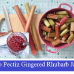 No Pectin Gingered Rhubarb Jam