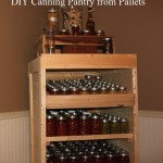 DIY Canning Pantry from Pallets