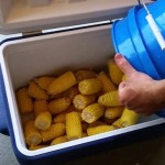 Cooler Cooked Corn