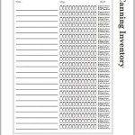 Printable Canning Inventory List