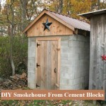 DIY Smokehouse From Cement Blocks