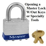 Opening a Master Lock W/Out Keys or Specialty Tools