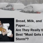 Bread, Milk, and Toilet Paper..The Best Preps for a Storm?