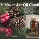 MIY Mason Jar Oil Candles