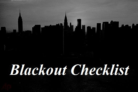 Blackout Checklist