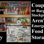 Coupon or Bargain Stockpiles Aren't Emergency Food Storage