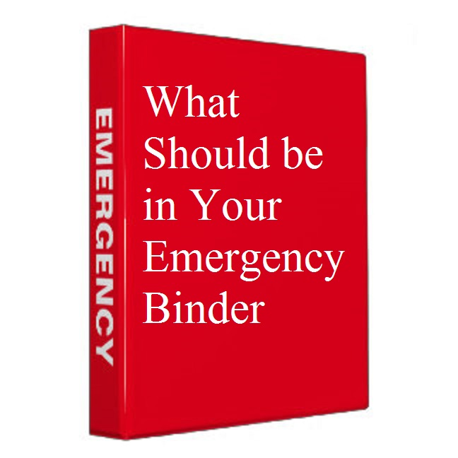 What Should be in Your Emergency Binder