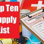 Top Ten Supply List