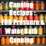 Canning Recipes: For Pressure and Water Bath Canning