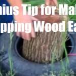 Genius Tip for Making Chopping Wood Easier