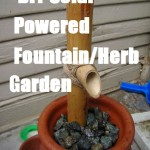 DIY Solar Powered Fountain/Herb Garden