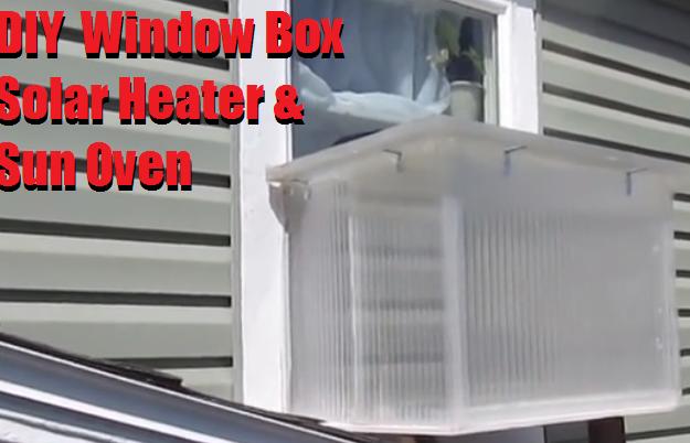 Diy Window Box Solar Heater Amp Sun Oven The Prepared Page