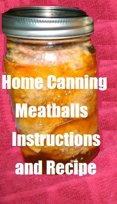Home Canning Meatballs - Instructions and Recipe