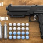 Non-Lethal Defense Salt Handgun