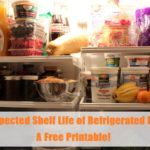 The Expected Shelf Life Of Refrigerated Foods & A Free Printable!