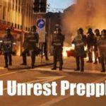 Civil Unrest Prepping