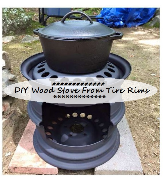 DIY Wood Stove From Tire Rims