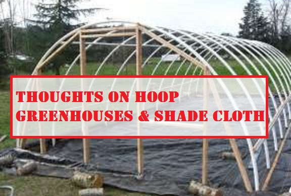 Thoughts on Hoop Greenhouses & Shade Cloth