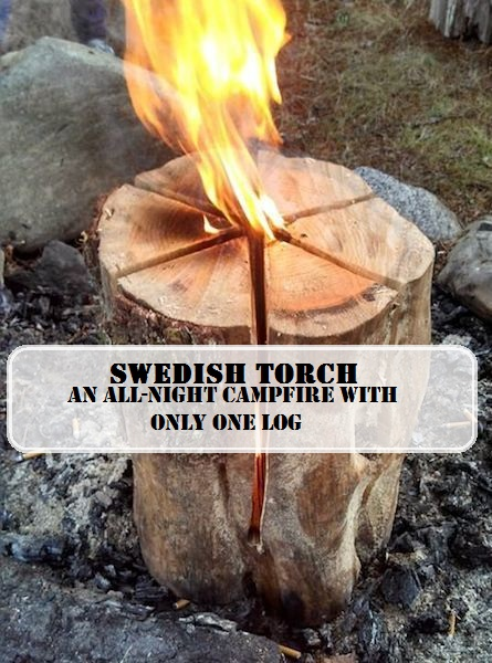 Swedish Fire - An All-Night Campfire with Only One Log