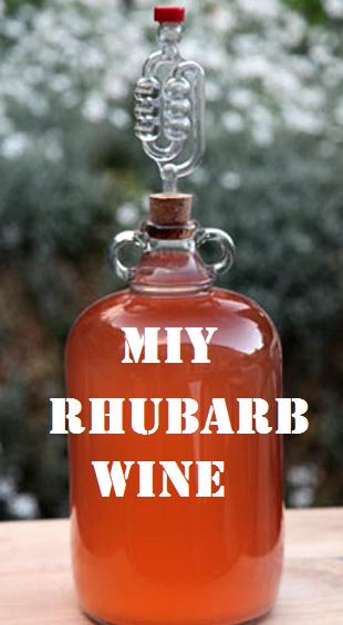 MIY Rhubarb Wine