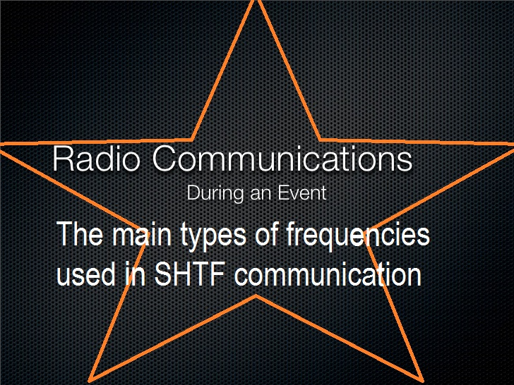 Radio Communications During an Event