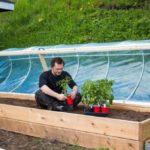 DIY Hinged HOOP HOUSE for Raised Bed